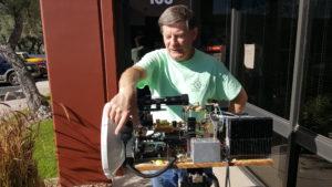 VE4MA and cusom built 76 GHz gear